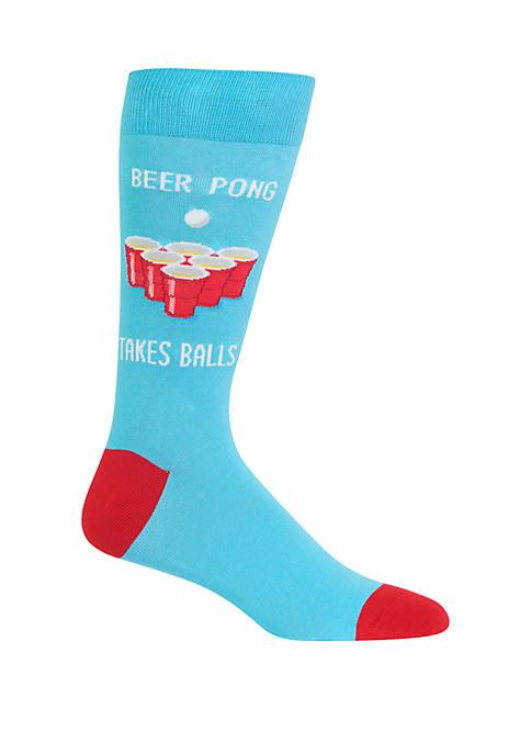 Hot Sox® Beer Pong Crew Socks