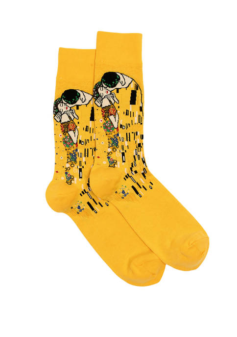 Hot Sox® Mens Klimt's The Kiss Crew Socks