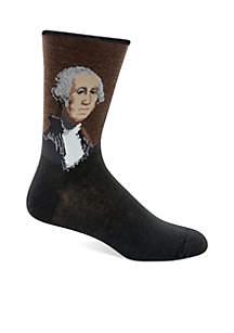 Artist Series  George Washington Crew Socks - Single Pair