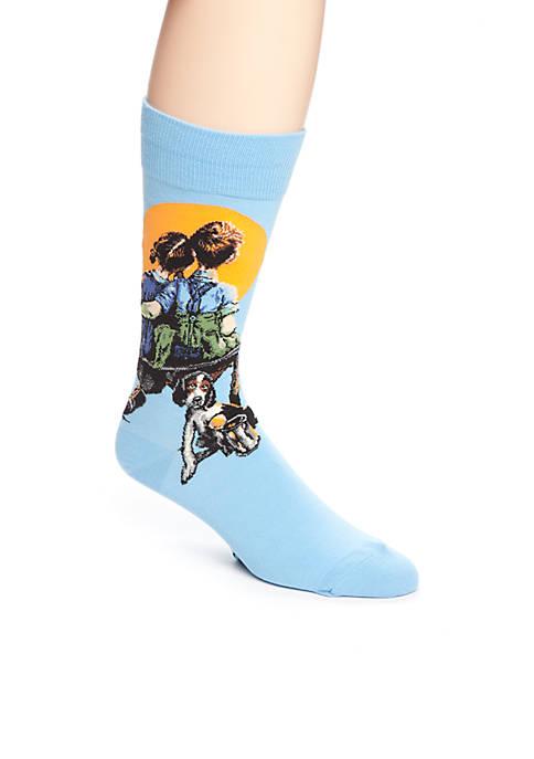 Hot Sox® Artist Series Little Spooners Crew Socks