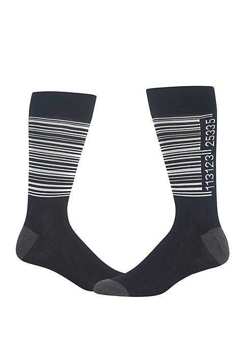 Hot Sox® Barcode Crew Socks