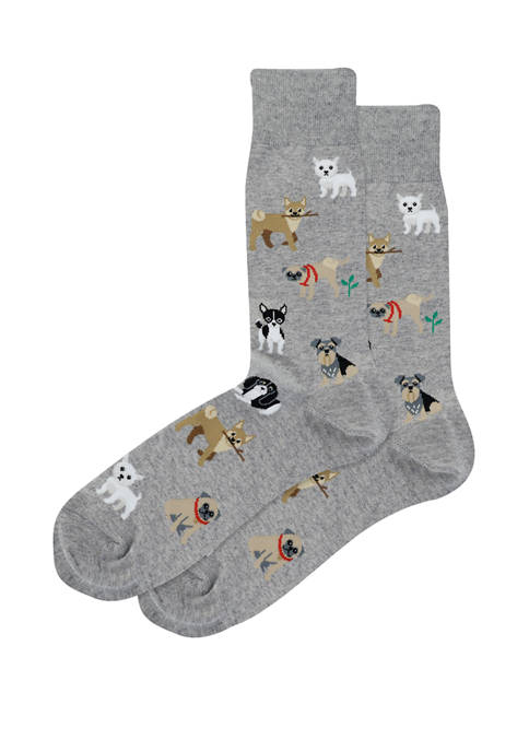 Hot Sox® Mens Dogs of the World Crew