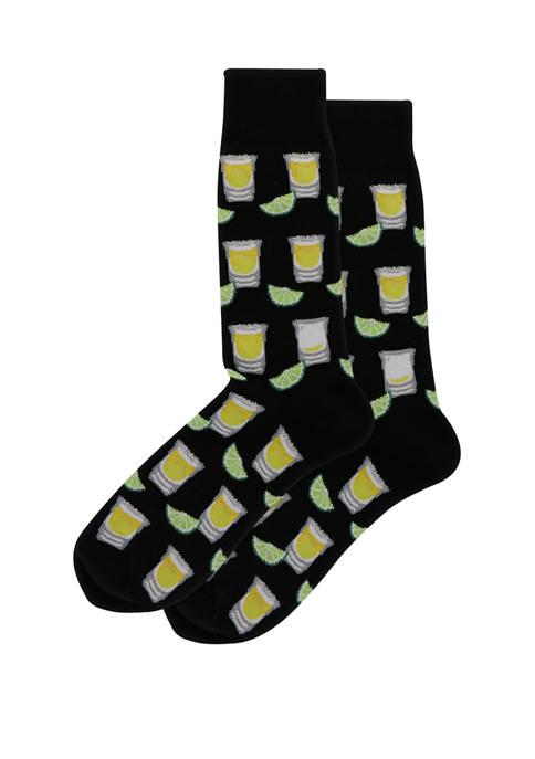 Hot Sox® Mens Tequilla Shots Crew Socks