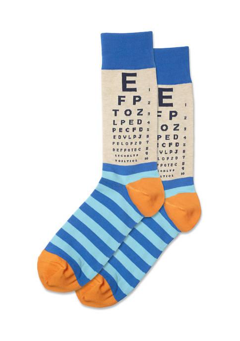 Mens Eye Chart Crew Socks