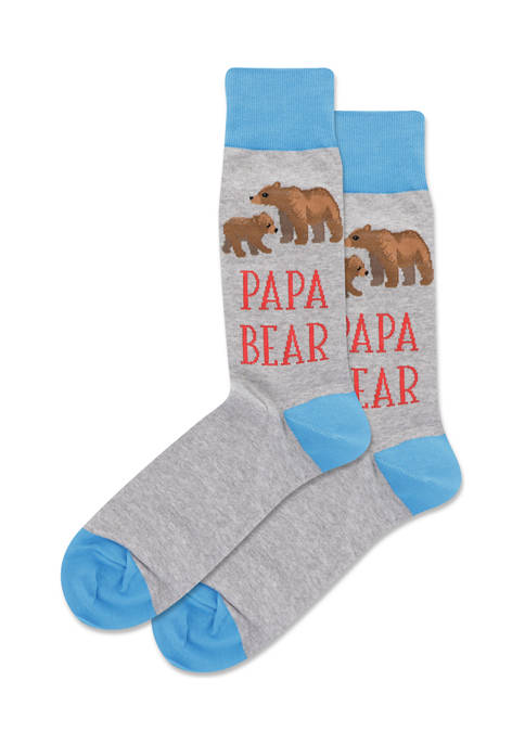 Mens Papa Bear Crew Socks