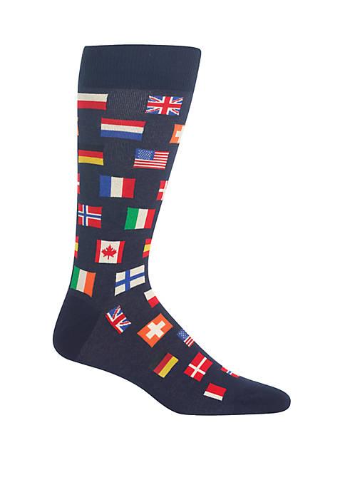 Hot Sox® Flags Crew Socks