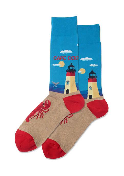 Mens Cape Cod Crew Socks