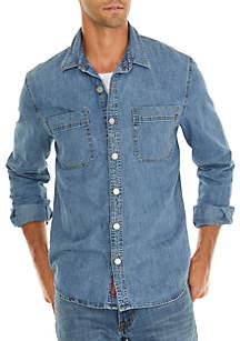 Denim Workwear Shirt with Shanks