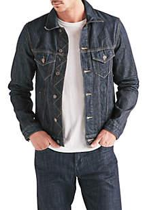 Classic\u2011Fit Denim Trucker Jacket