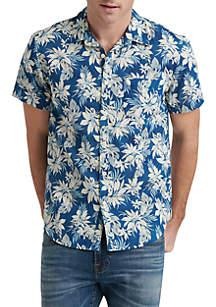 Lucky Brand Floral Short Sleeve Ballona Shirt