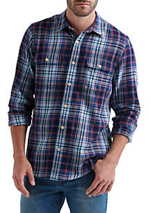 Long Sleeve Plaid Workwear Shirt