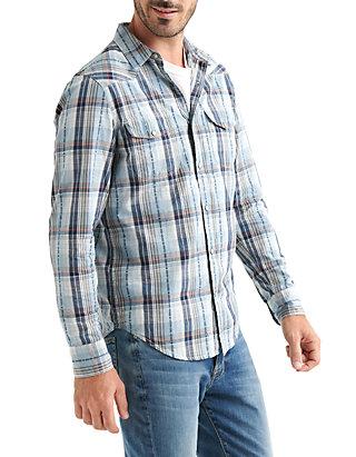 ef21e6b0ff ... Lucky Brand Long Sleeve Santa Fe Western Shirt
