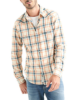 3f08b5bd56 Lucky Brand. Lucky Brand Long Sleeve Santa Fe Western Shirt