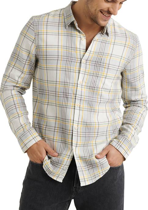 Lucky Brand White/Green Jaybird Workwear Button Down Shirt