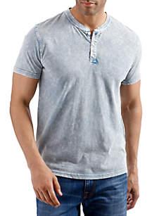 Short Sleeve Sugar Magic Henley Shirt