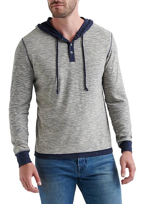 Lucky Brand Long Sleeve Duo-Fold Hoodie