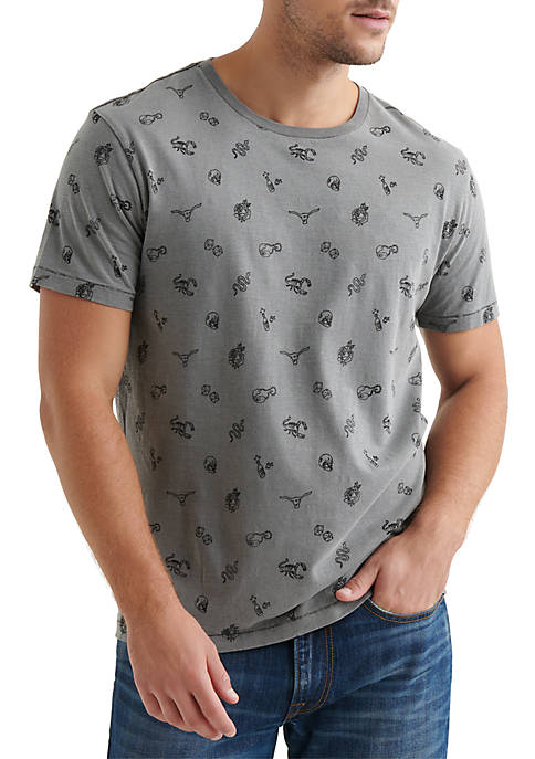 Lucky Brand Vice Printed Graphic Tee