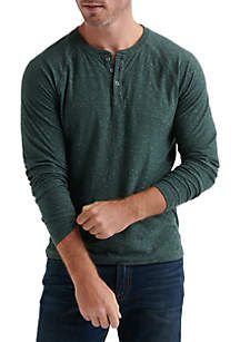 Long Sleeve Snow Henley Tee