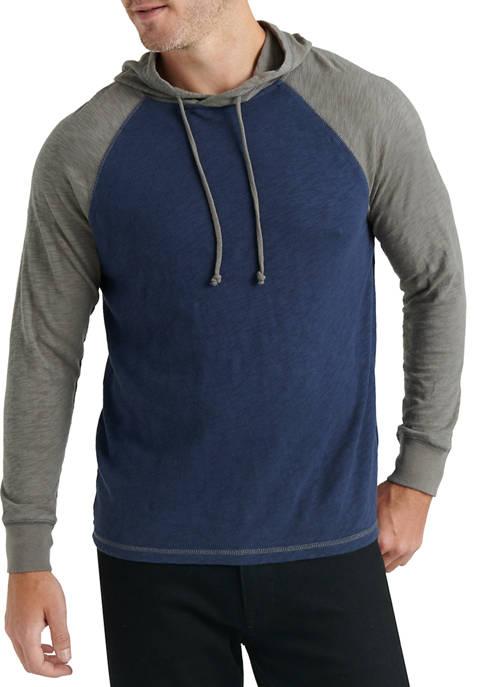 Lucky Brand Color Block Hoodie Sweatshirt