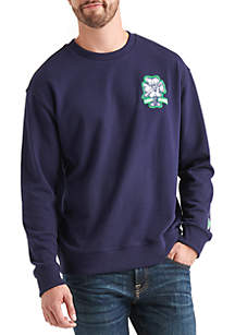 Totally Hap Patch Crew Sweatshirt