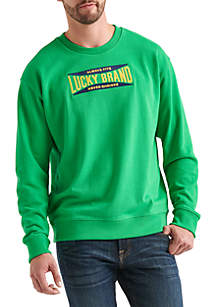 Totally Lucky Stretch Logo Crew Pullover