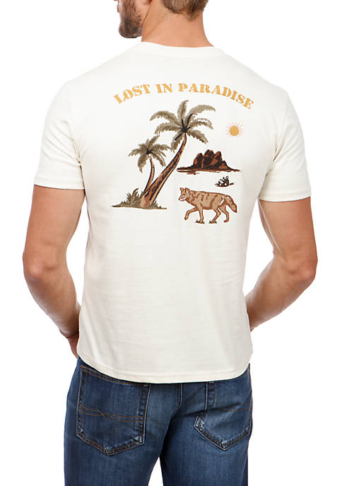 Lucky Brand Short Sleeve Coyote Paradise Graphic Tee