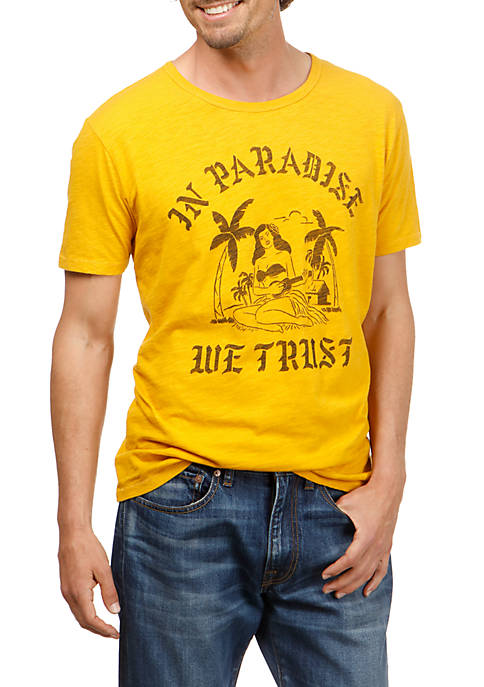 Lucky Brand Short Sleeve Paradise Trust Graphic Tee