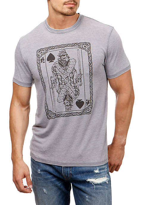 Lucky Brand Short Sleeve Poker King Graphic Tee
