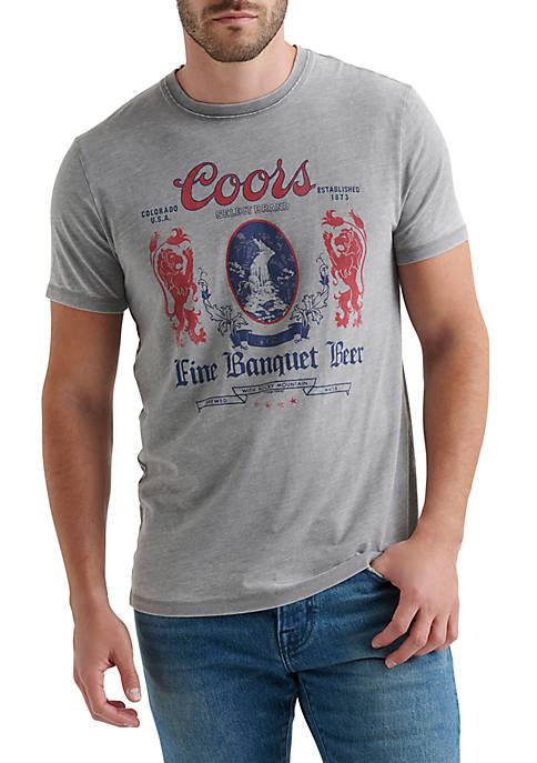 Lucky Brand Coors Light Bullet Short Sleeve Shirt