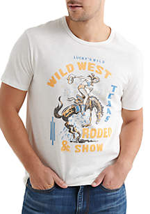 Lucky Brand Wild West Rodeo Show Graphic Tee