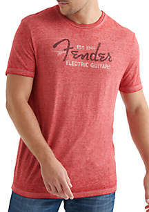 Lucky Brand Fender Wave Graphic Tee