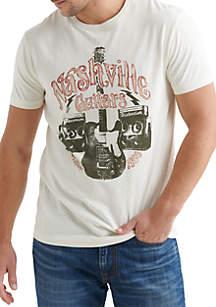 Lucky Brand Nashville Guitars Graphic Tee