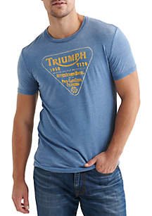 Lucky Brand Triumph Twin Carb Graphic Tee
