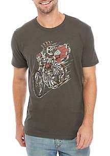 Lucky Brand King Skull Moto Graphic T-Shirt
