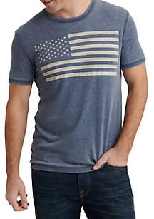 Lucky Brand USA Flag Graphic T Shirt
