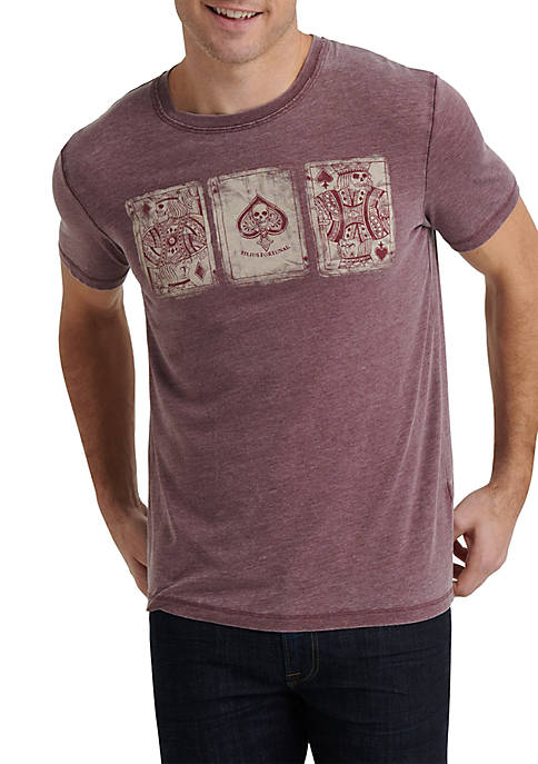 Lucky Brand Poker Cards Graphic T Shirt