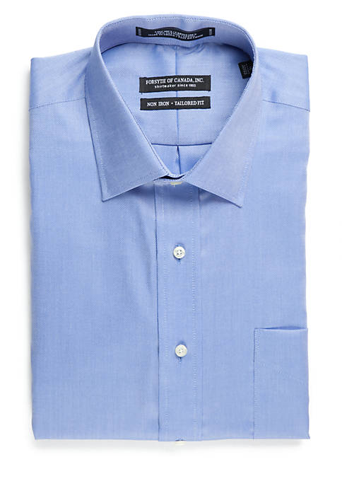 Tailored Fit Non-Iron Royal Oxford Dress Shirt