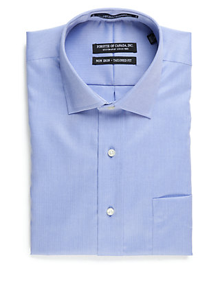Forsyth of Canada Tailored Fit Non-Iron Long Sleeve Dress Shirt