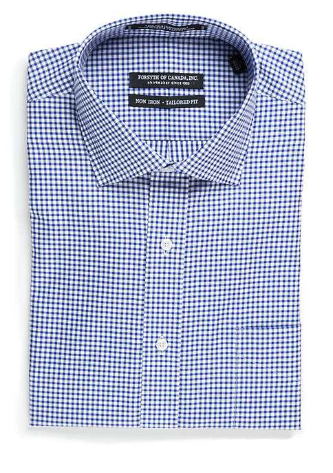 Forsyth of Canada Tailored Fit Non-Iron Gingham Check