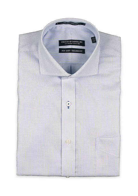 Forsyth of Canada Textured Spread Collar Shirt