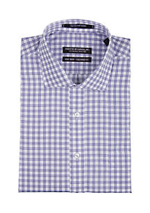 Twill Navy and White Multi Line Checkered Shirt