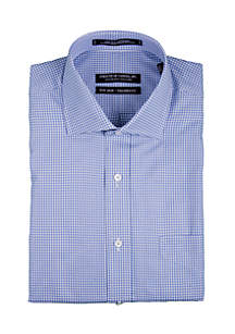 Blue Dobby Check Shirt