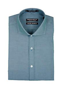 Teal Textured Long Sleeve Dress Shirt