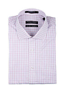 Forsyth of Canada Twill Red and Blue Checkered Dress Shirt