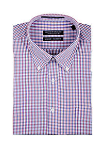 End on End Red Blue Checkered Button Down