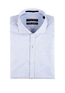 Forsyth of Canada Pool Dobby Check Long Sleeve Dress Shirt