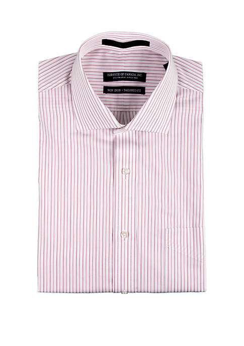 Forsyth of Canada Old Rose Textured Stripe Shirt