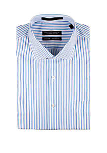 Forsyth of Canada Textured Multi-Blue Stripe Dress Shirt