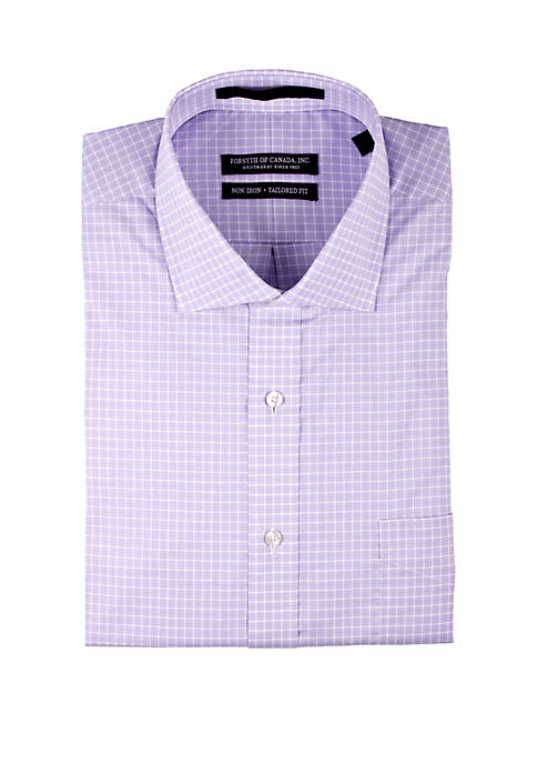 Forsyth of Canada Lavender Check Button Down