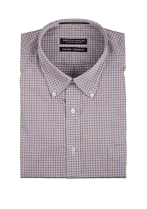 Forsyth of Canada Long Sleeve Twill Check Dress